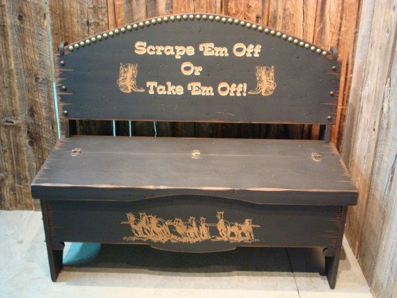 Trunk Bench Storage Bench Western Bench By Workhorsefurniture Bench With Storage Wood Trunk Repurposed Furniture