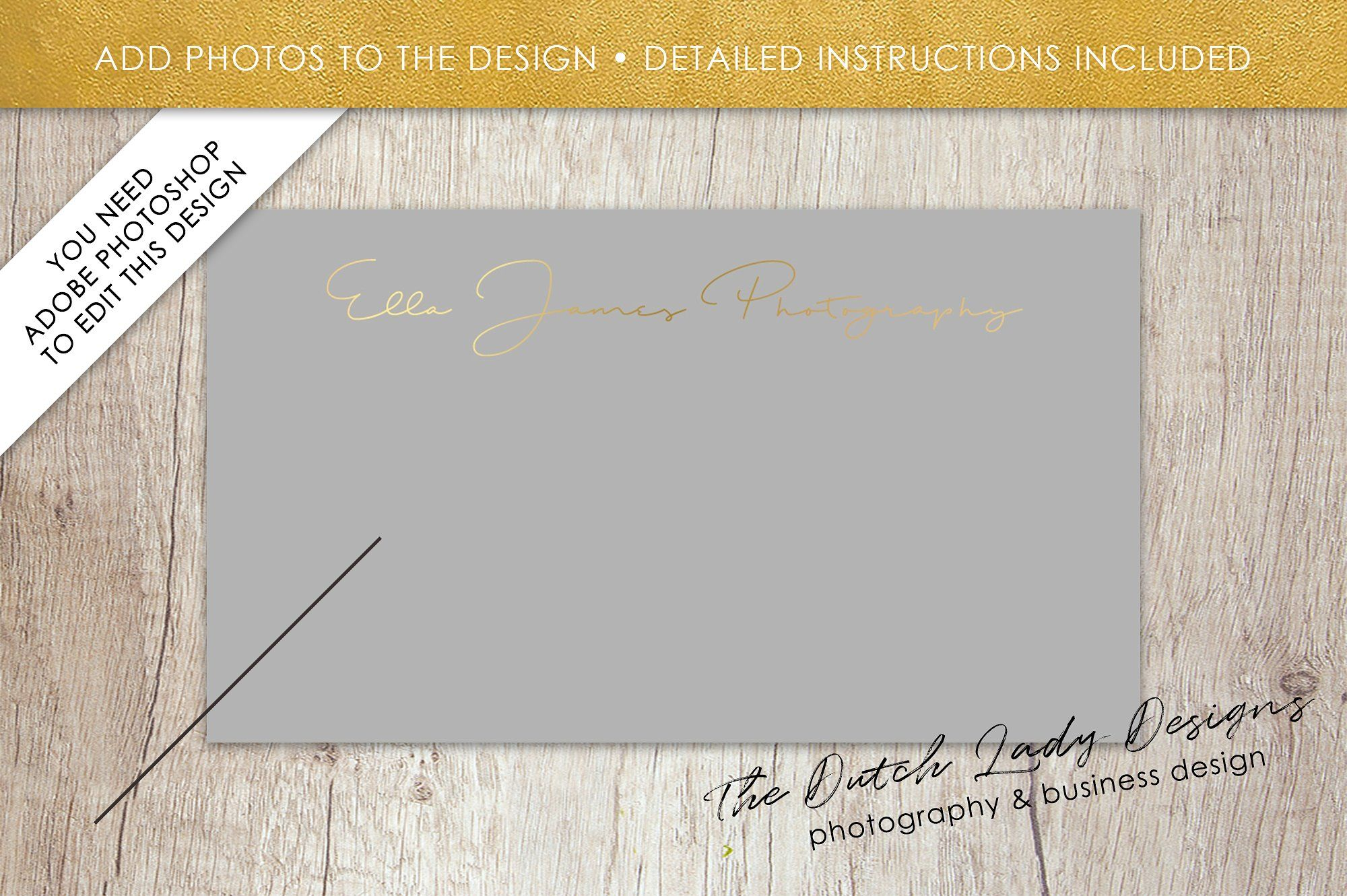 business card size photoshop template