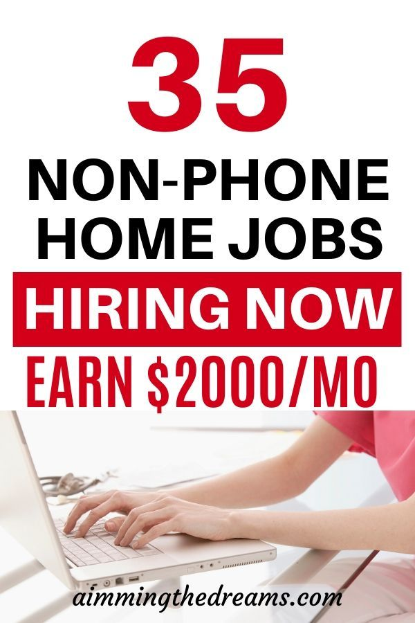 Non-Phone Work From Home Jobs: 35 Companies hiring