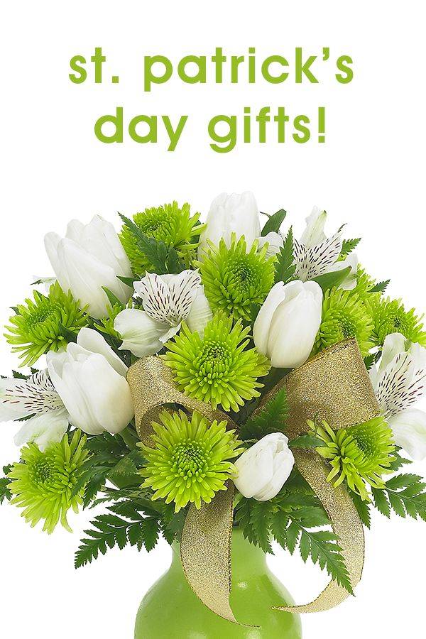Floral and gift basket ideas for St. Patrick's Day! ♥