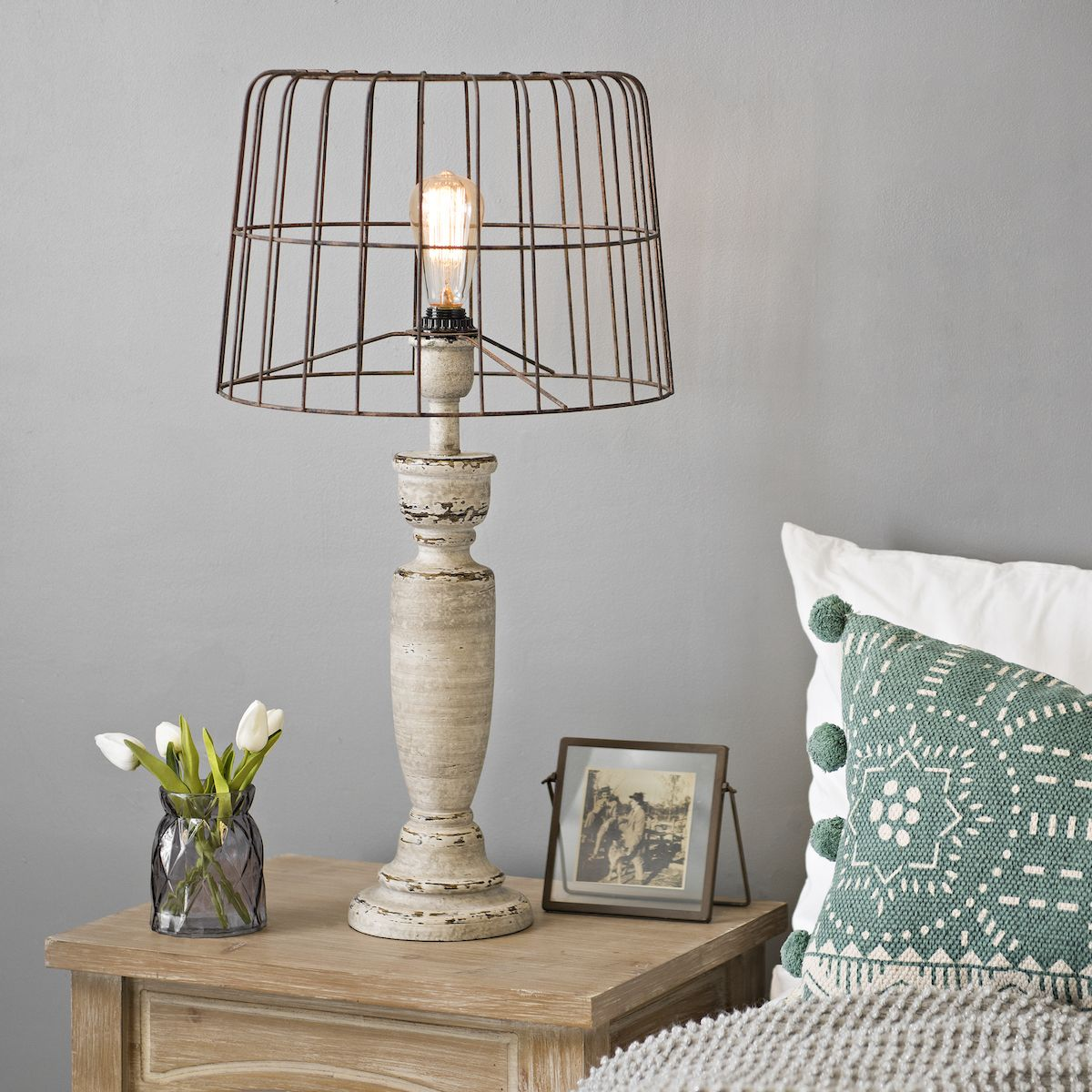 No Shade But This Lamp Is The Best Farmhouse Table Lamps House Lamp Lamps Living Room