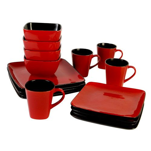 Red Square Plates and matching set.  sc 1 st  Pinterest & Red Square Plates and matching set. | For the Home | Pinterest ...