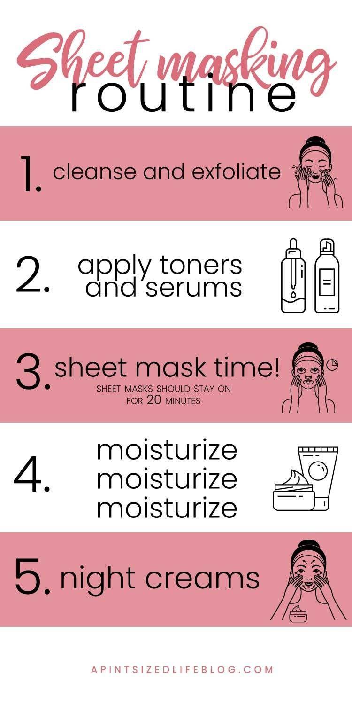 5 step sheet masking routine face sheet mask beauty