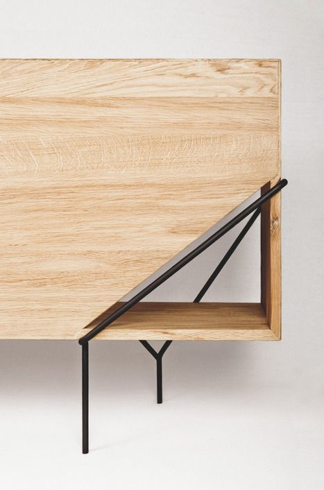 Furniture Design Details details we like / console / wood / metal legs / triangle