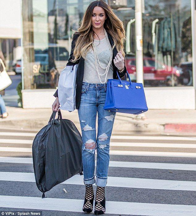 Courtney Bingham Sixx Displays Slim Frame In Sheer Top Ripped Jeans Celebrity Style Sofia
