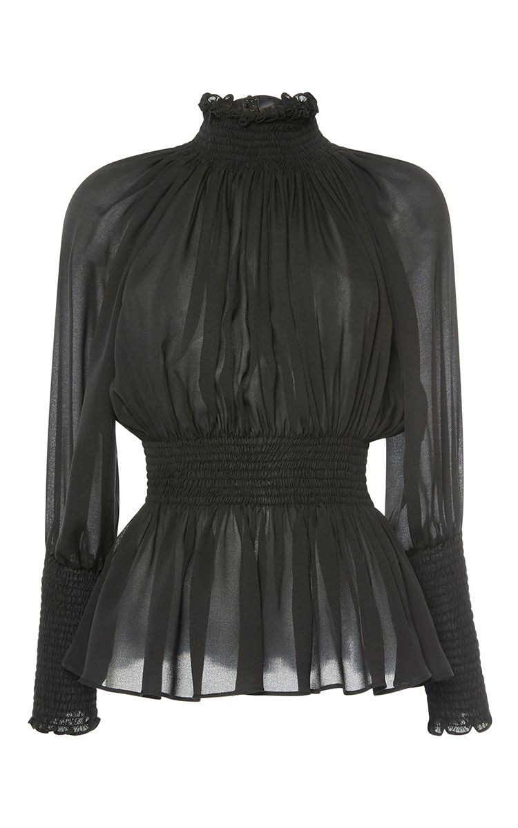 ae50205ca07e Long Sleeve Mock Neck Top by ELIE SAAB for Preorder on Moda Operandi