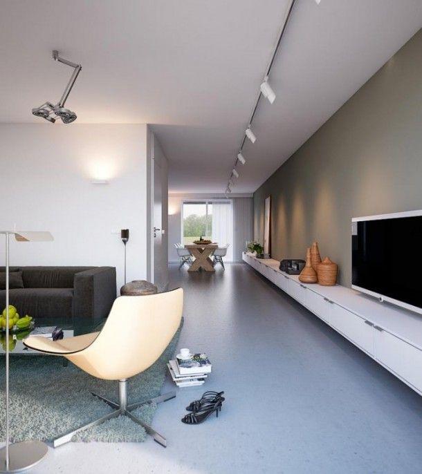 Lange (tv)kast voor smalle woonkamer | Woonkamer | Pinterest - Tv ...