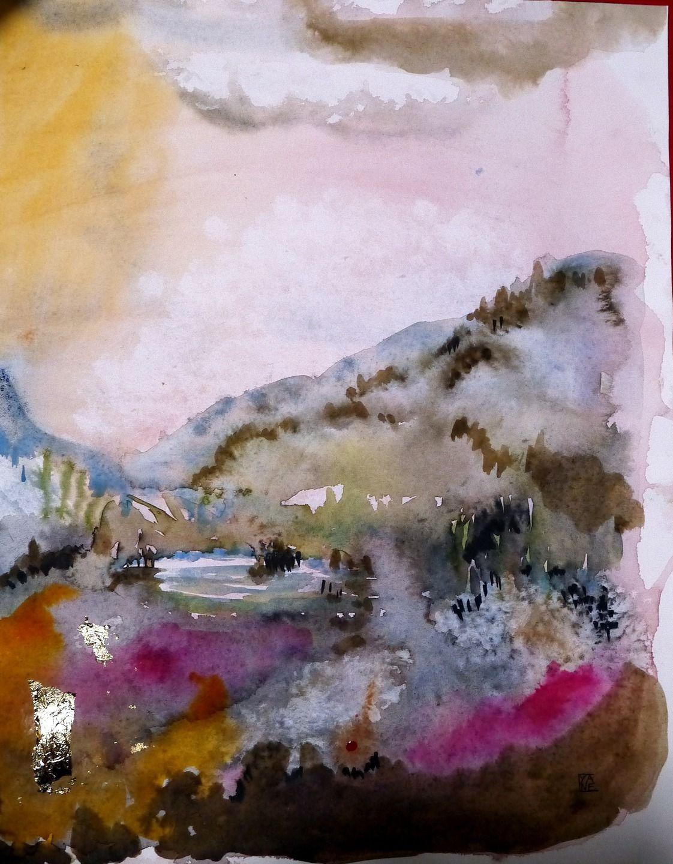 Tableau Paysage Abstrait Contemporain Peinture Moderne Techniques