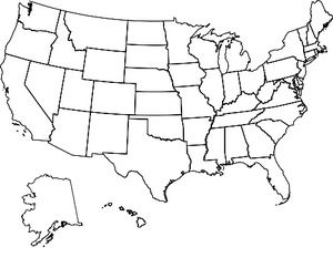 Map United States visited, US State Map, RV Map with colored states ...