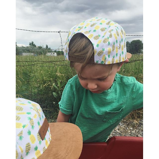 4c8233ca926ba Baby and toddler flatbrim 5-panel hats from Jack   Winn Apparel Co. Pineapple  print is my favorite!