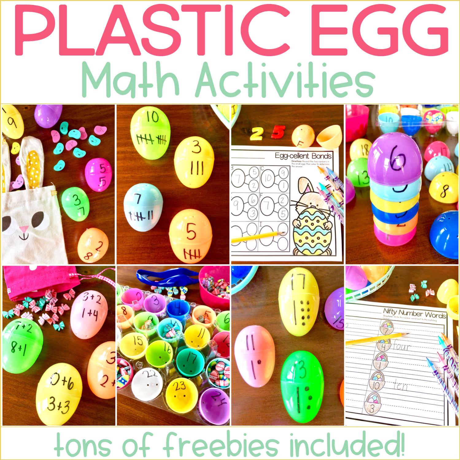 Easter Egg Math Activities For Kindergarten Freebies