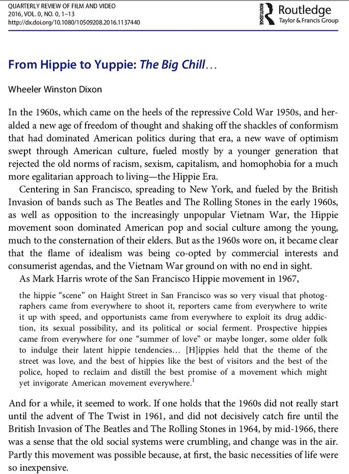 Hippie to Yuppie Large   Frame By Frame Blog   Pinterest   Cinema