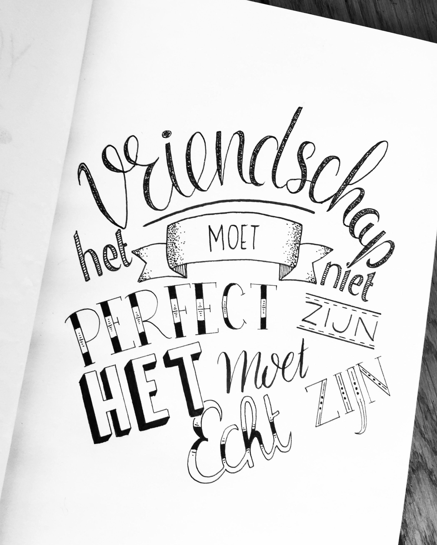 Beste Mooie Nederlandse quote over vriendschap! | Teksten, Kalligrafie RK-24