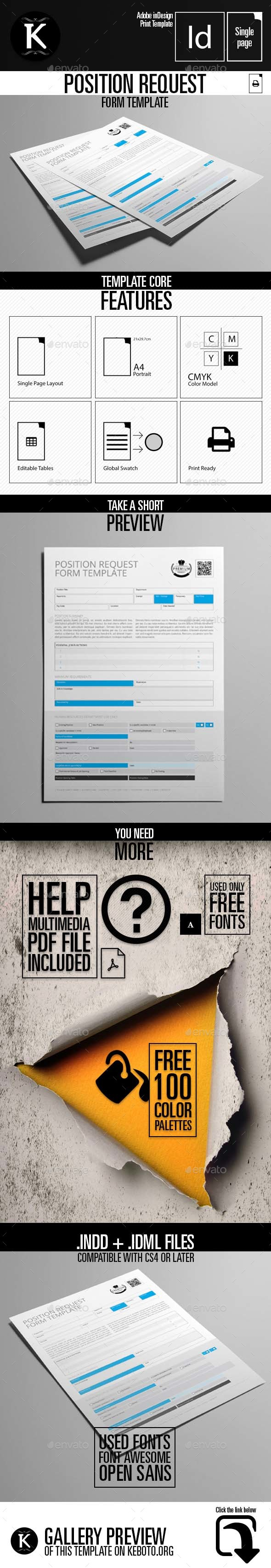 Position Request Form Template | Indesign templates, Adobe indesign ...