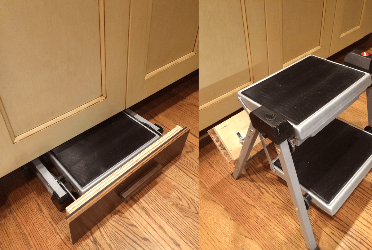 Admirable Folding Step Stool Steel Compact Folding Stool For Kitchen Customarchery Wood Chair Design Ideas Customarcherynet