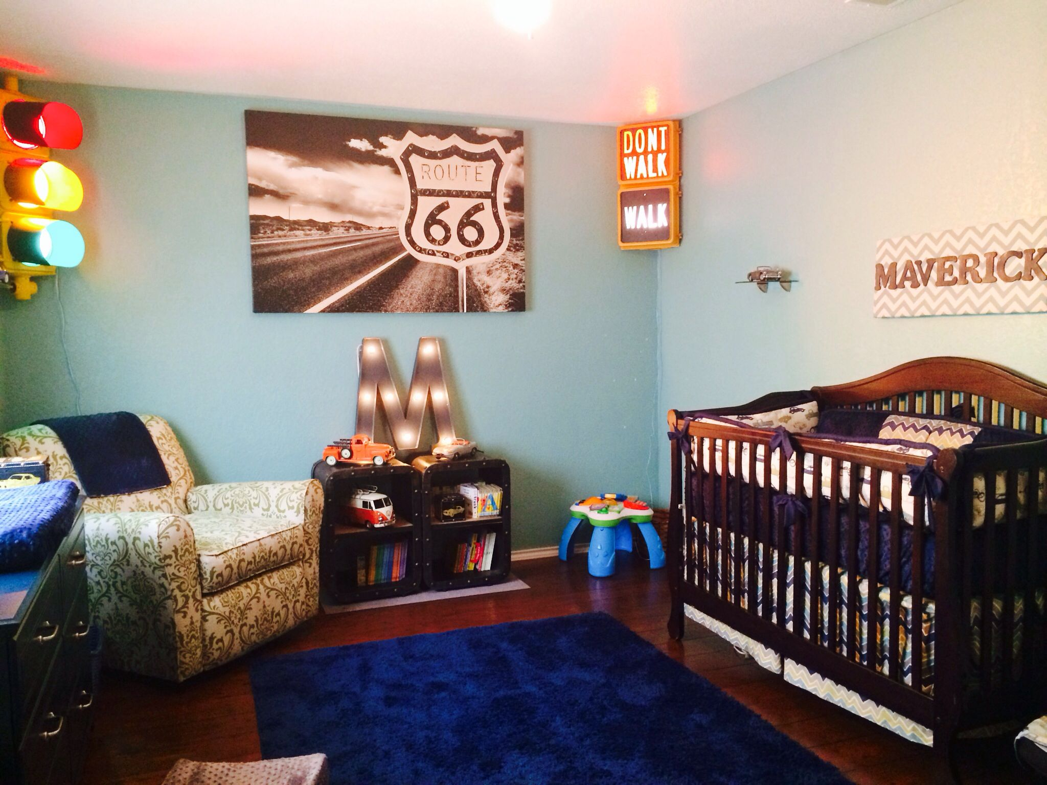 Classic car nursery for my baby boy. Baby boy room