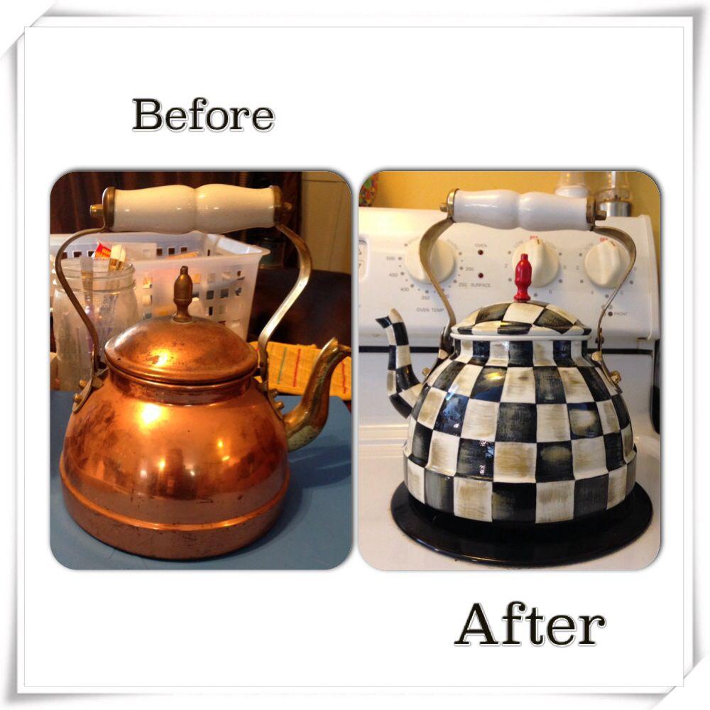 Wonderful Mackenzie Childs Inspired Tea Kettle!