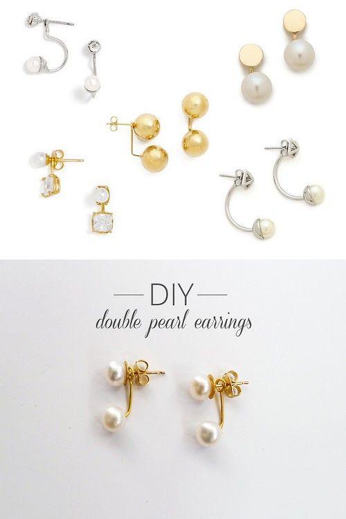 Diy Dior Earrings Pearl Beaded Double
