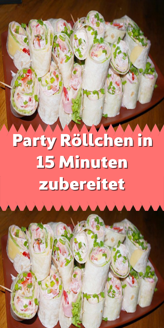 Party Röllchen in 15 Minuten zubereitet #schnellepartyrezepte
