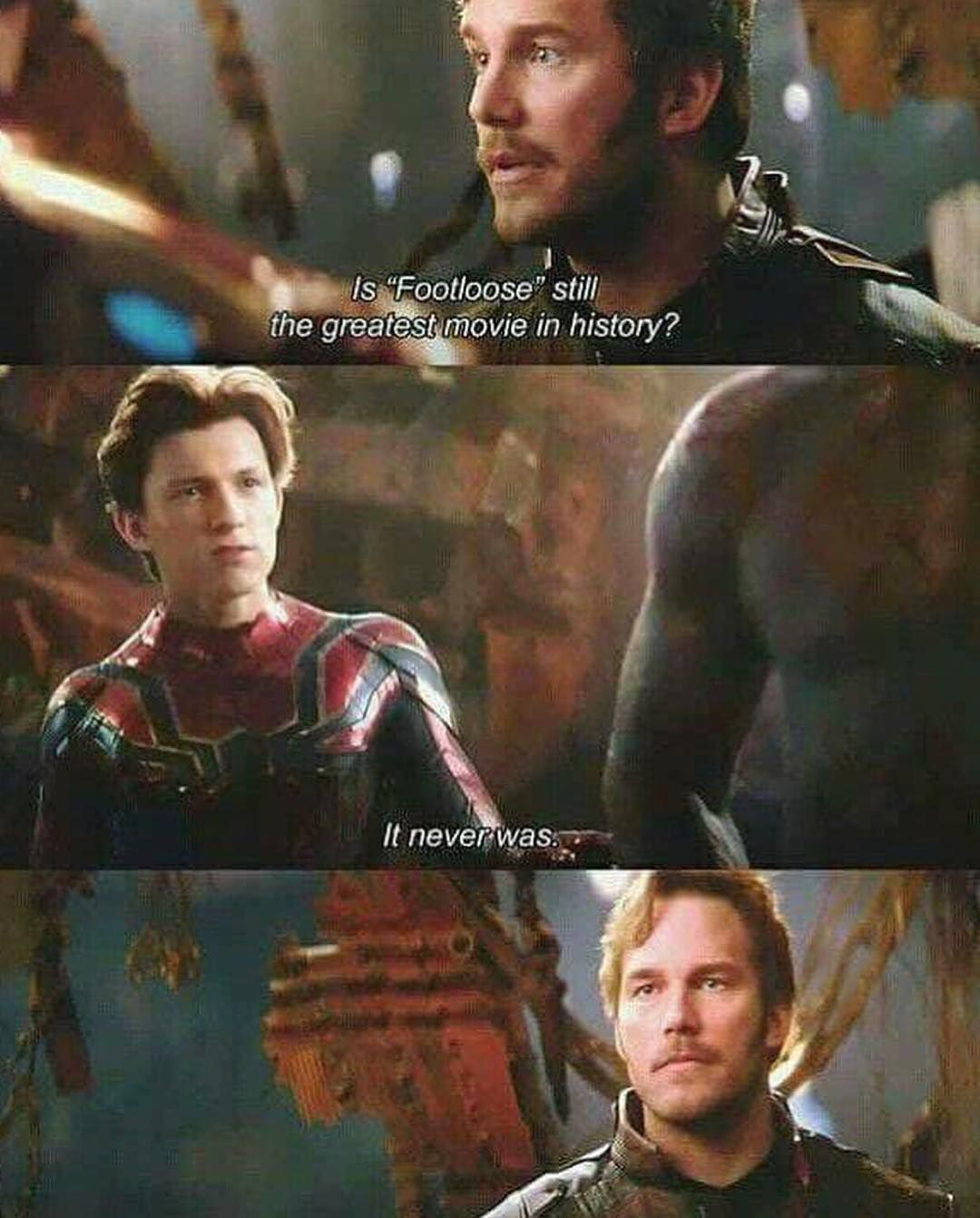 One of the funniest scenes Star Lords face #marvel