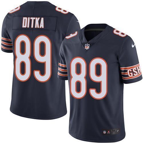 8e4c9632129 Nike Bears #89 Mike Ditka Navy Blue Team Color Men's Stitched NFL Vapor  Untouchable Limited Jersey
