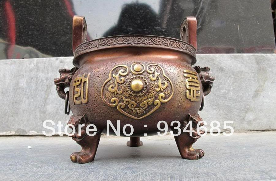 Antique chinese temple incense burners chinese folk