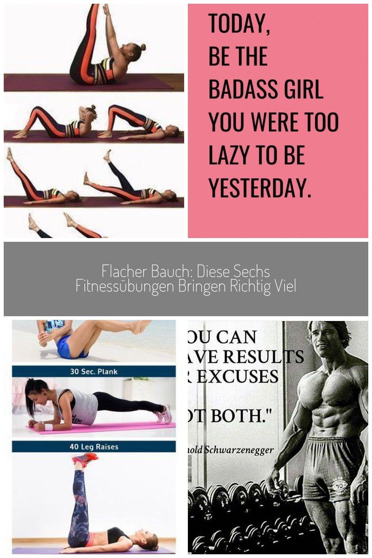 Flacher Bauch: Diese sechs Fitnessübungen bringen richtig viel #fitness #sport #gym motivation inspi...