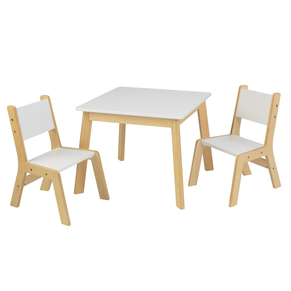 Kidkraft White Table And Chairs Kore Wobble Chair Modern Set Of 2 Brown In 2019