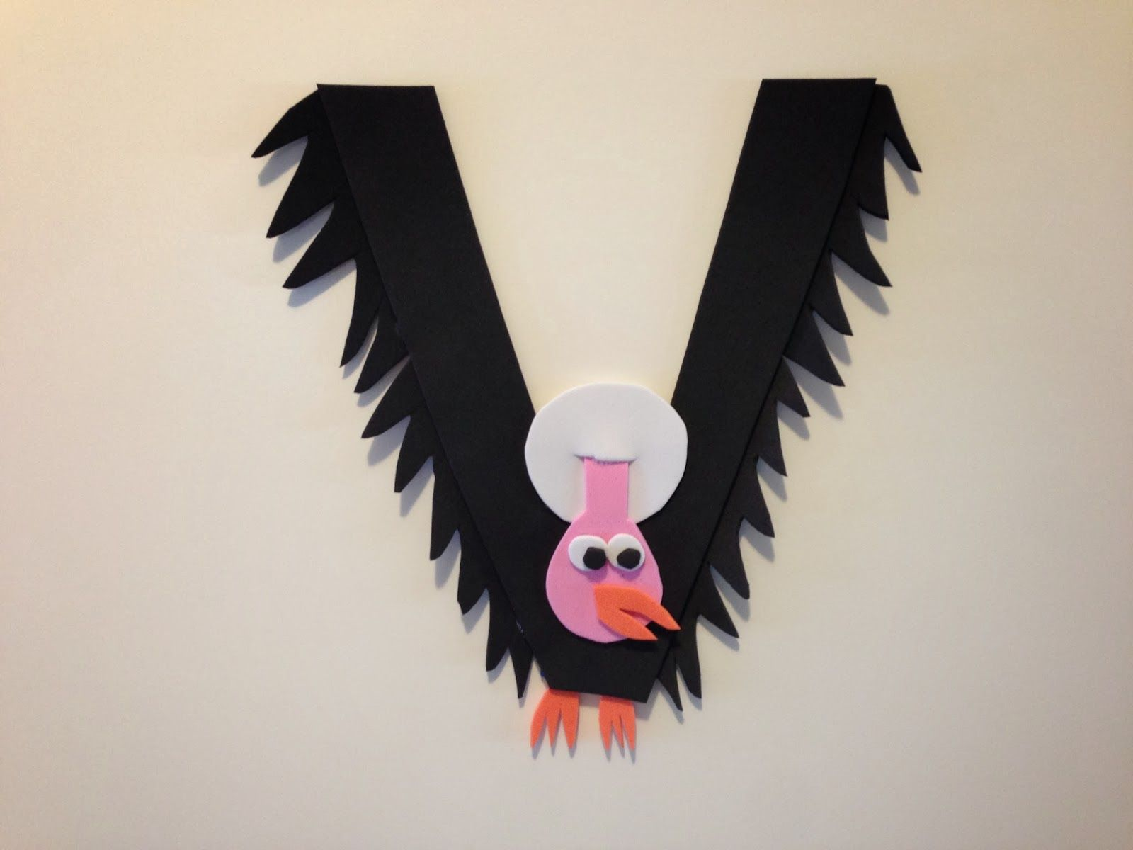 Pin It Make It Animal Alphabet Letter V Vulture