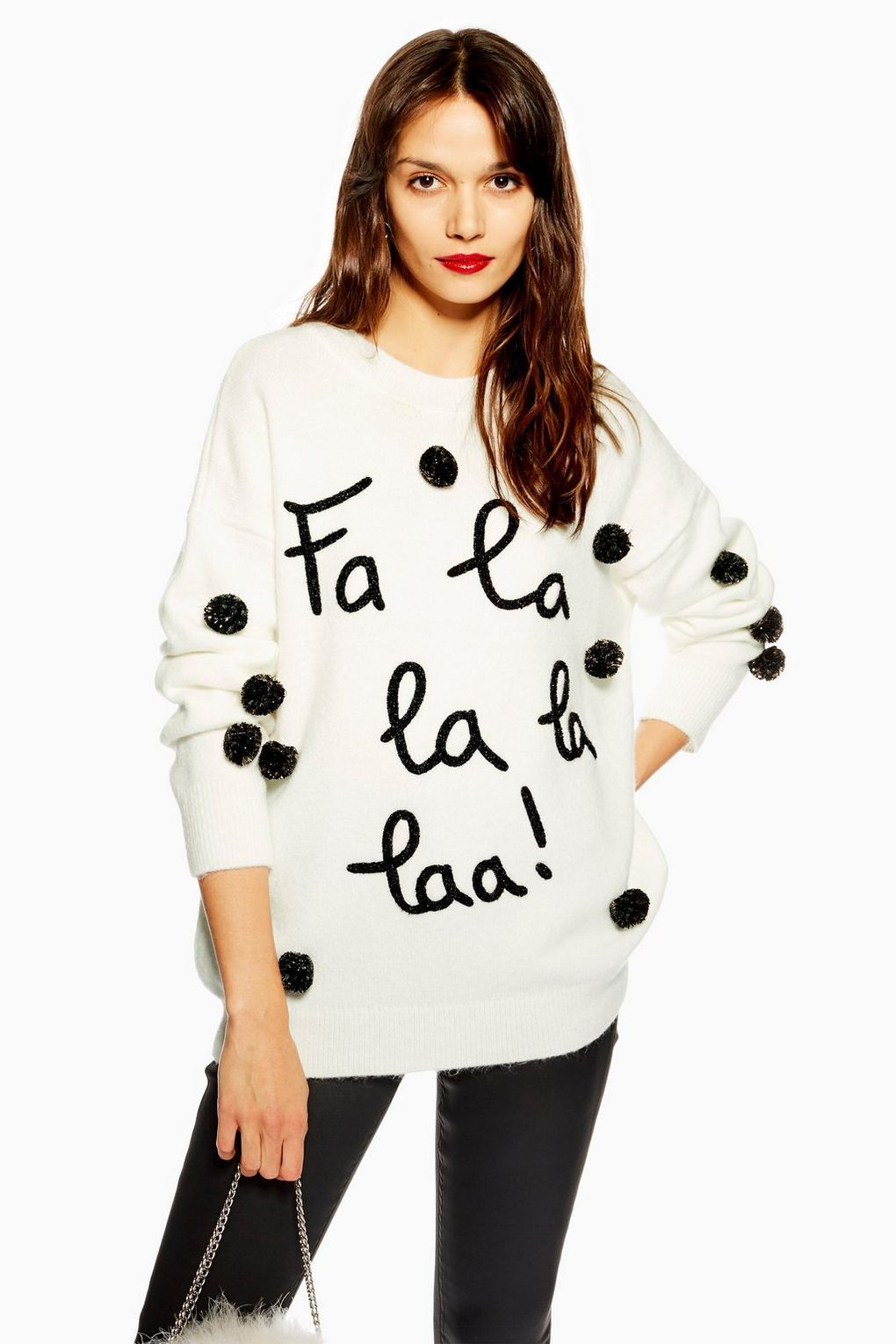 ac0c72f7260f8 Christmas 'Fa La La La' Jumper in 2019 | CHRISTMAS TIME | Xmas ...