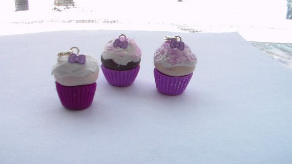 Purple Bow Cupcakes by Mysmallcreations on Etsy, $6.00
