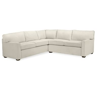 Pb Square Upholstered 2 Piece L Shaped Sectional