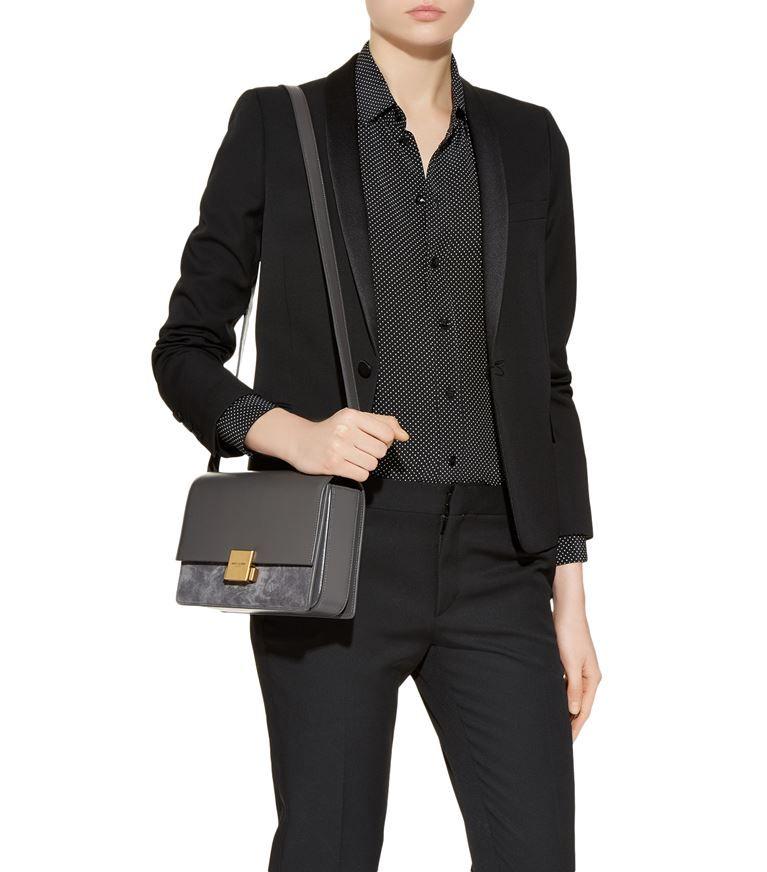170f85914 Accessories: Crossbody Bags Saint Laurent Medium Suede Panel Bellechasse  Satchel