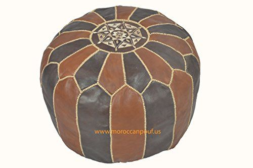 Awesome Moroccan Poufs Leather Luxury Ottomans Footstools Mix Tan Theyellowbook Wood Chair Design Ideas Theyellowbookinfo