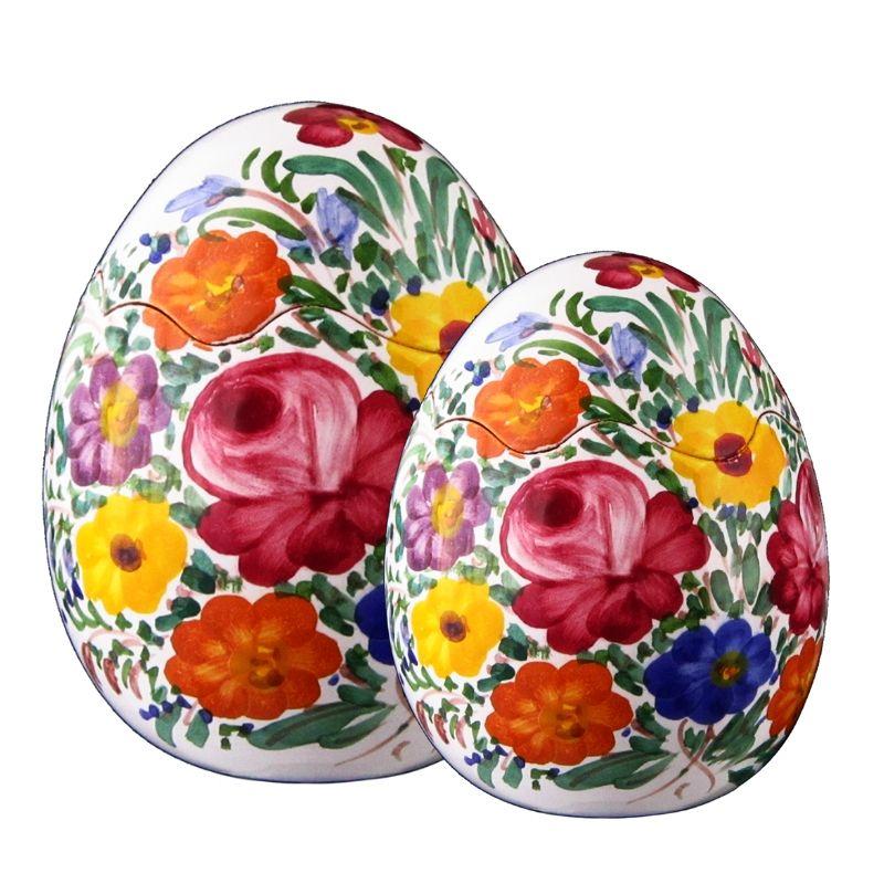 Uova Di Ceramica Dipinte A Mano.Uova Di Pasqua Di Ceramica Da Collezione Fatte E Dipinte A Mano L
