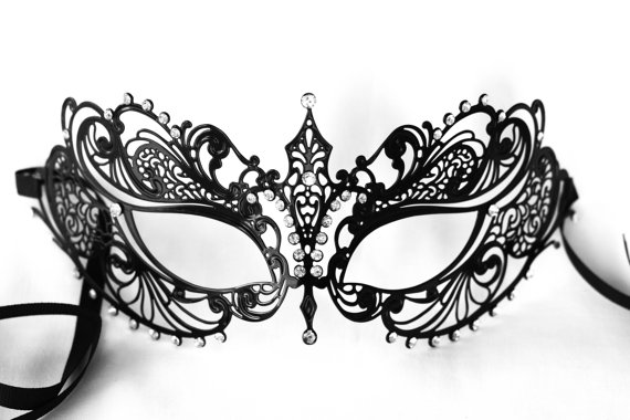 black lace masquerade mask prom masquerade by stefanelbeadwork