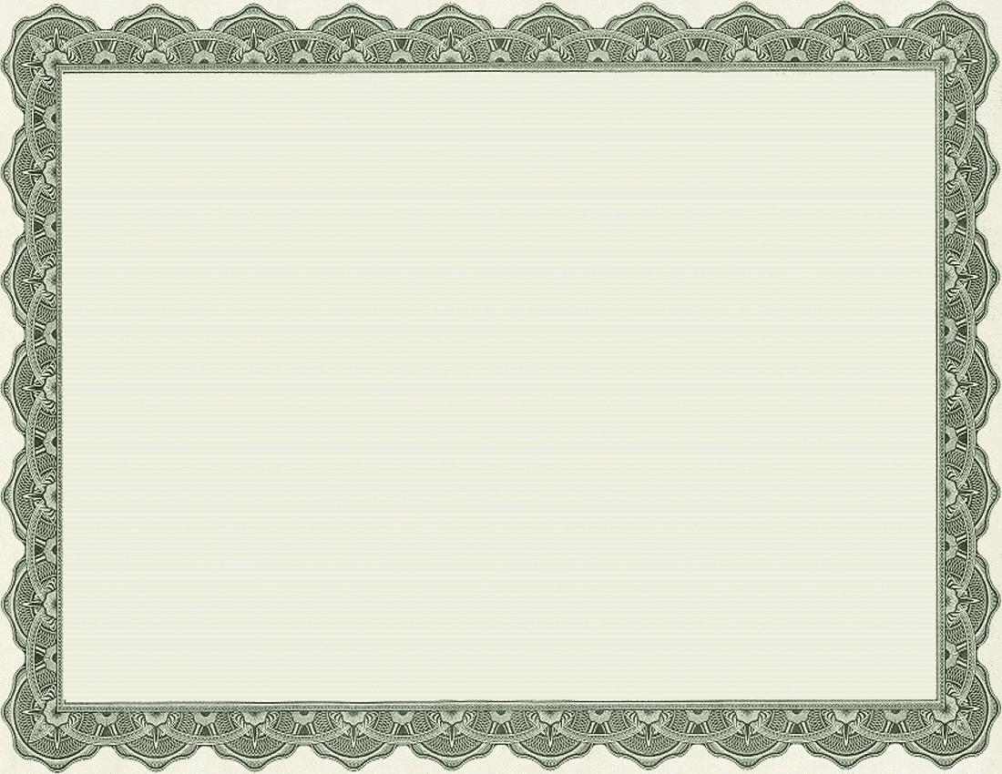 printable certificate paper