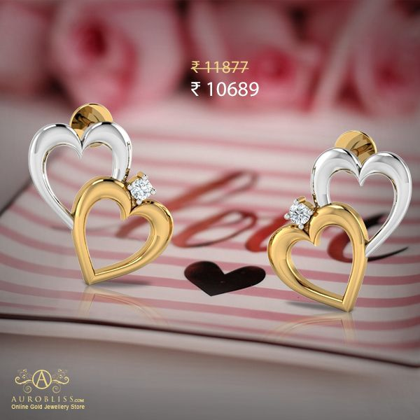 Love this cutesy heart studs? Shop now to get Flat 10% Off.