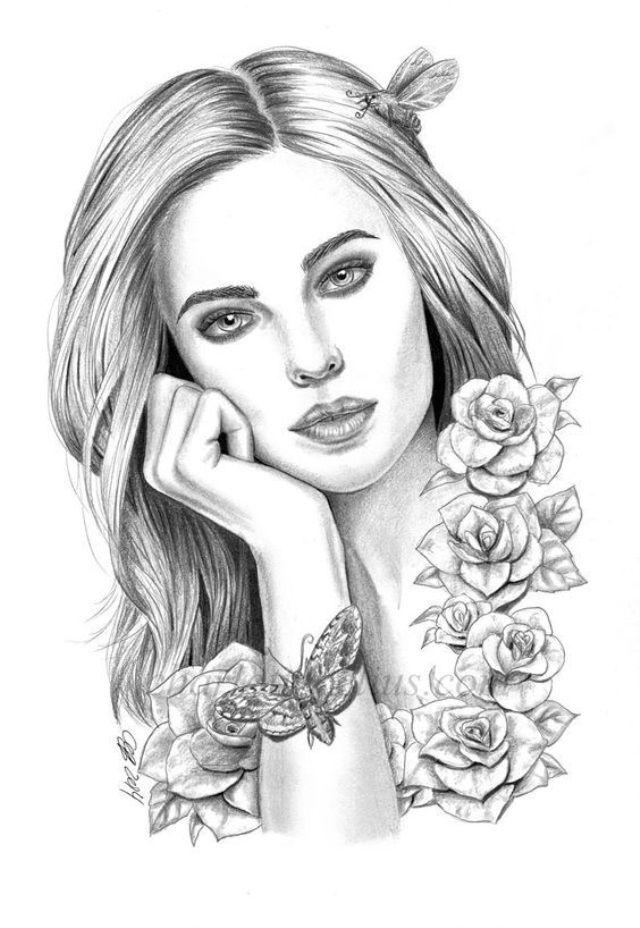 Картинки раскраска девушки