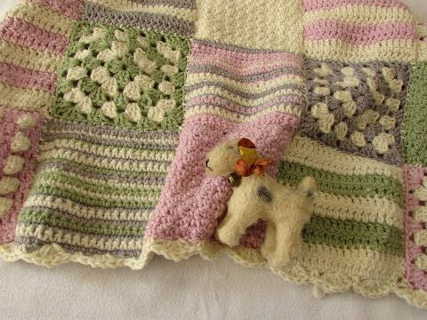 How To Crochet A Granny Square Baby Blanket For Beginners Youtube