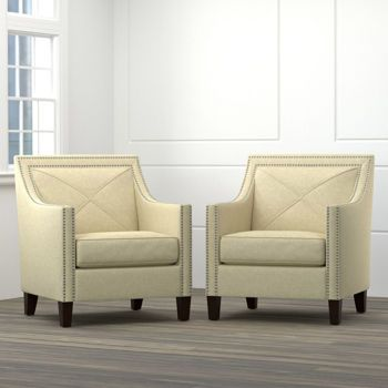 Victor 2 Pack Fabric Accent Chairs Oatmeal Accent Chairs For
