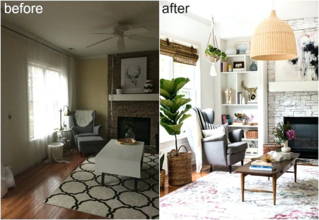 Breathtaking 25 Gorgeous Family Room Makeovers Before