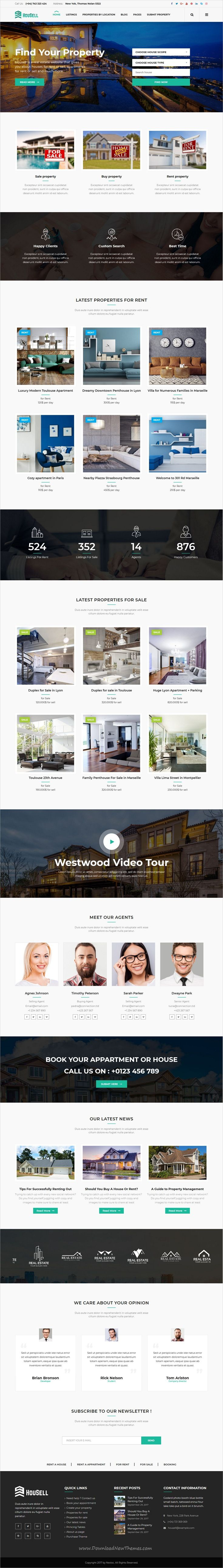 Housell - Modern Real Estate WordPress Theme   Wordpress, Website ...