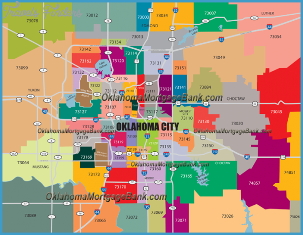 Oklahoma City Metro Map Httptravelsfinderscomoklahomacity - Map of oklahoma with cities