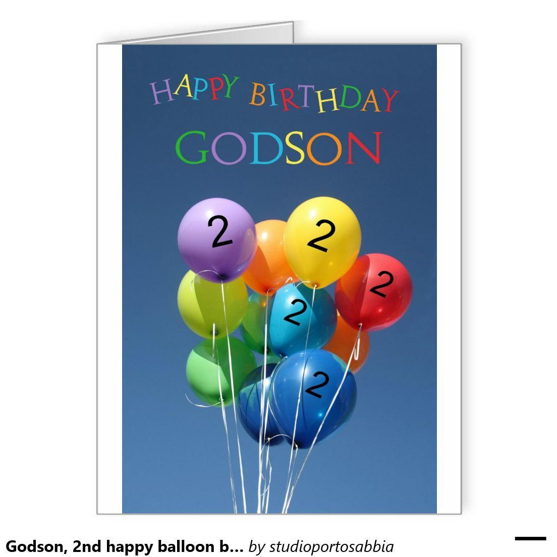 Godson, 2nd Happy Balloon Birthday Card