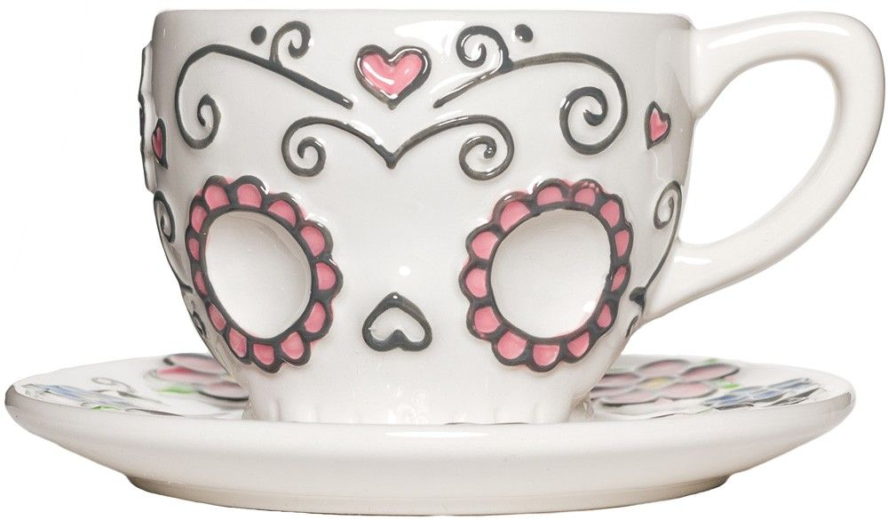 Sugar Skull Tea Cup Have A Lovely Cuppa Tea Any Time Of