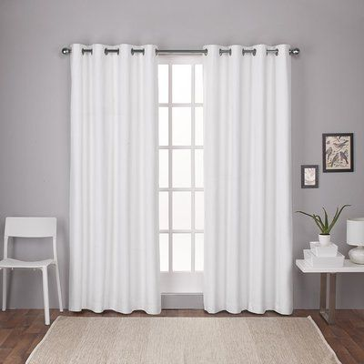 Trent Austin Design Molly London Thermal Curtain Panels Color Winter White Size 54 X 108
