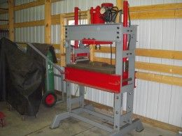 60 Ton Shop Press Homemade 60 Ton Shop Press Utilizing A Cylinder Of 6 Shop Press Metal Working Projects Carpentry Workshop