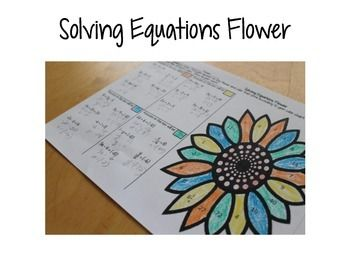 Solving TwoStep Equations Coloring Activity Solving
