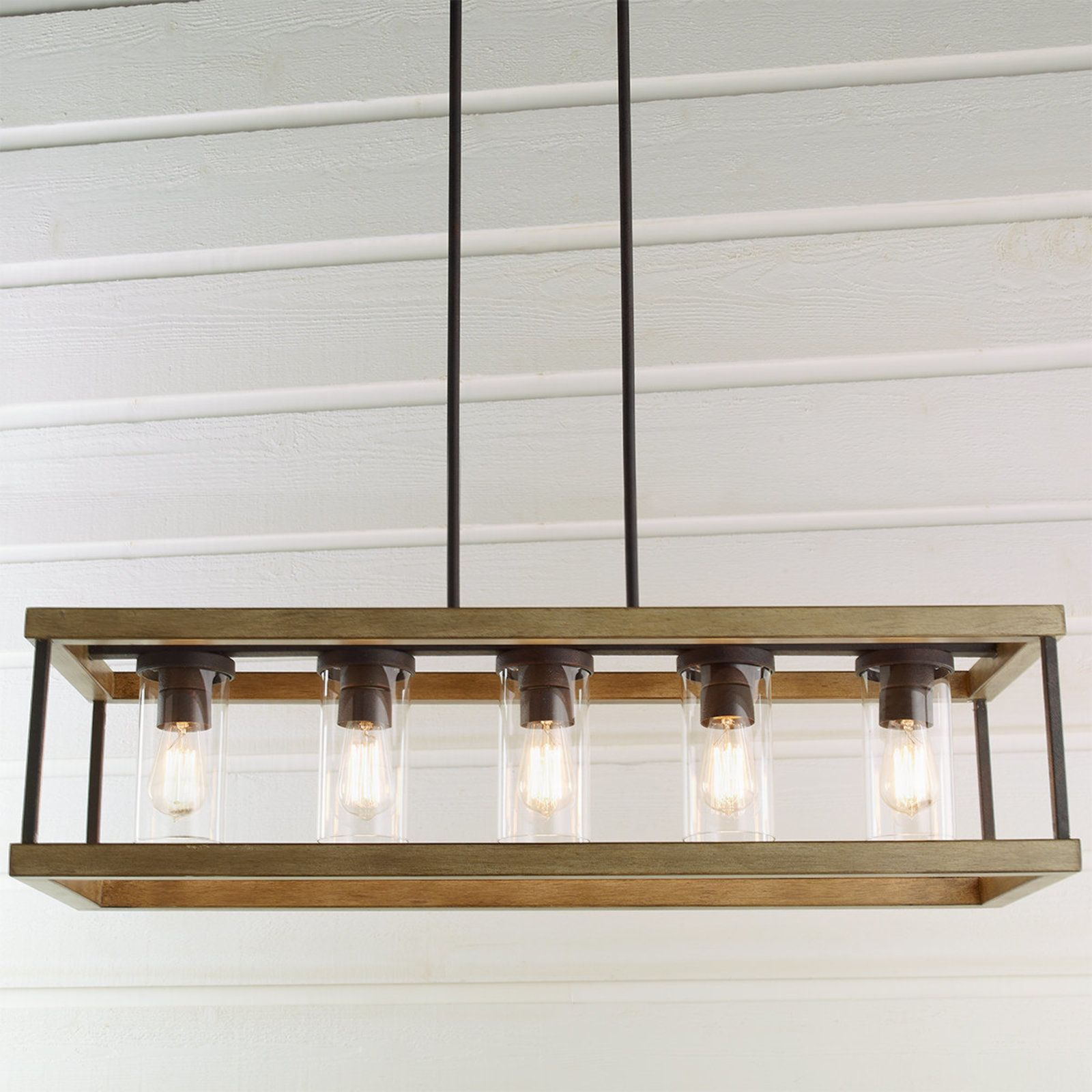 Indoor Outdoor Rectangular Rustic Chandelier